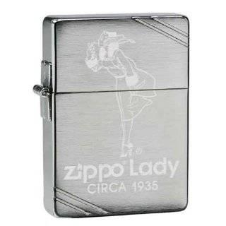Zippo Custom Lighter   1935 Vintage Zippo Lady Ad Replica Logo