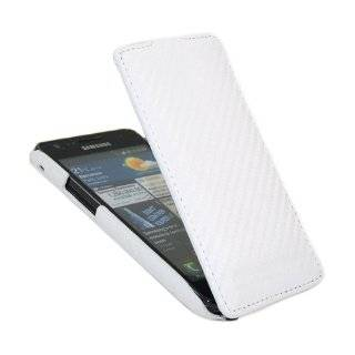 iTALKonline PREMIUM LEATHER WHITE Clip On Flip Case/Cover / Pouch For