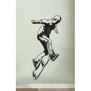 Vinyl Wall Art Decal Sticker Extreme Sports Skater Jump 45