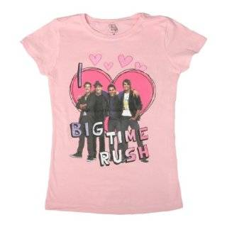 Big Time Rush Purple Girls T Shirt Clothing