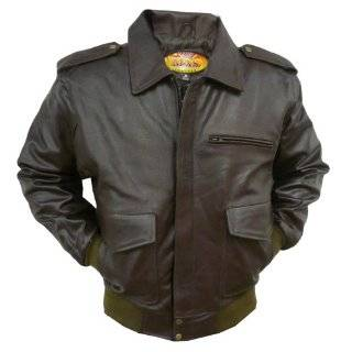 Napoline Mens Leather Bomber Jacket XXL (46 48)
