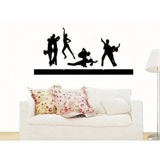 Easy Stick 2 Piece Multicolor Dance Fever   Vinyl Wall Art