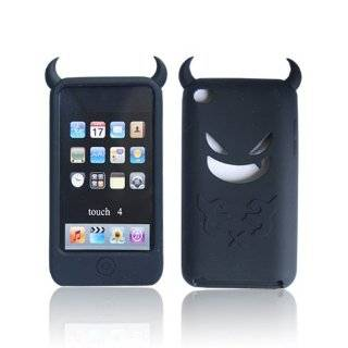 Devil Silicone Case Cover for Apple iPod Touch 4 Light Blue J35