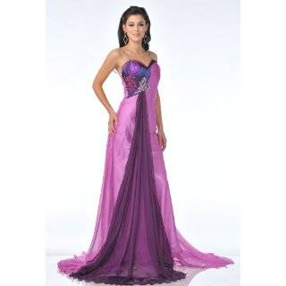Zeilei 1013 Print Satin Halter Pageant Prom Dress: Clothing