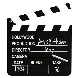 8 Wooden Hollywood Director Clapboards Toys & Games