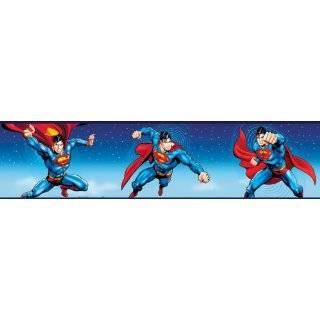 Superman Logo Blue Wallpaper Border Roll: Home & Kitchen