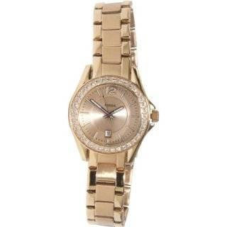 Fossil Fossil Ladies Rose Gold Mini Riley 3 Hand Analog Glitz Watch