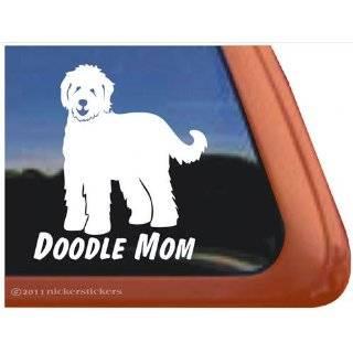 Doodle On Board Vinyl Window Dog Decal Sticker: Automotive
