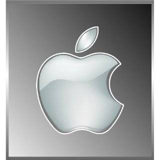 Apple Logo Die Cut Vinyl Decal Sticker 4 White