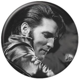 Elvis Presley Black and White Drawing Button 81102 [Toy