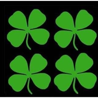 FOUR 4 LEAF CLOVER   Irish   Car, Truck, Notebook, Vinyl Decal Sticker
