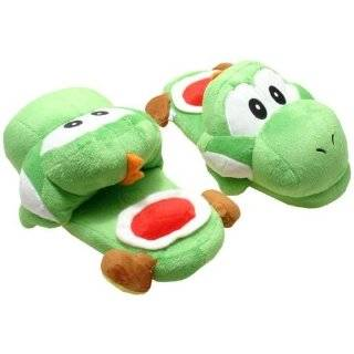 Super Mario Brothers Green Yoshi Slippers Plush Toys