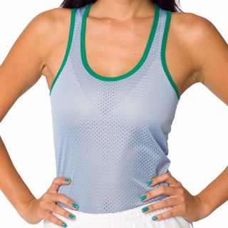 American Apparal Womens Baby Blue Mesh Tank
