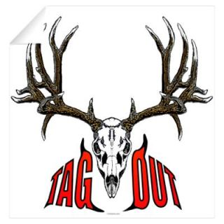 Mule deer skull,Tag out Wall Decal