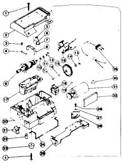 Model # 2901 Wen Wet wheel machine   Unit parts (35 parts)