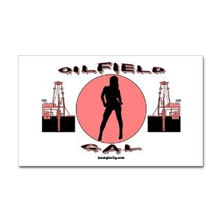 Oilfield Gal Rectangle Sticker by boozykelly
