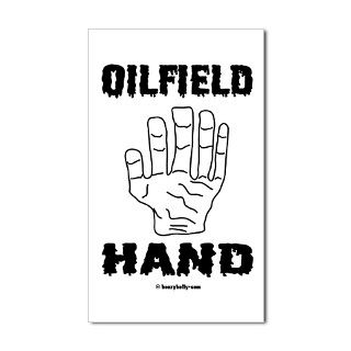 Black Gold Gifts > Black Gold Stickers > Oilfield Hand Rectangle