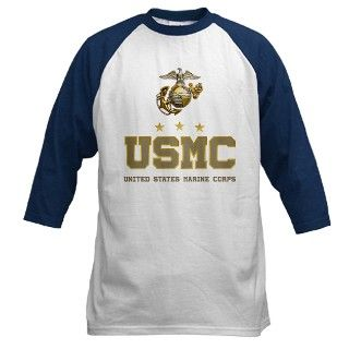Army Gifts > Army T shirts > USMC   Eagle Globe Anchor Baseball Jersey