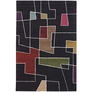 Hand tufted Contemporary Zen Wool Rug (79 x 106)