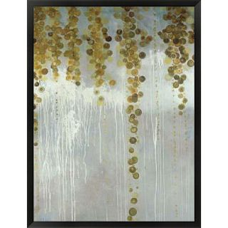 Lisa Kowalski Gold Swirls Framed Art