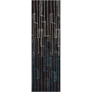 Noah Packard Hand tufted Black/Blue Contemporary Hestia New Zealand