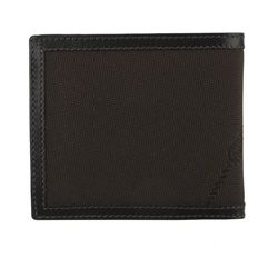Prada Mens Brown Logo Jacquard Bi fold Wallet