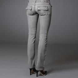 Laguna Beach Womens Bolsa Chica Grey Straight Leg Jeans