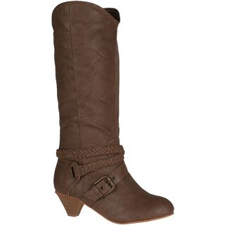 Neway Womens Heley 02 Taupe Knee high Cowgirl Boots