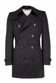 Burberry Brit  Black Gabardine Britton Trench Coat by Burberry Brit