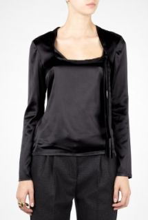 D&G  Scoop Neck Collar Bow Blouse by D&G