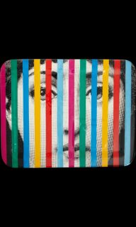 Fornasetti Face and Stripes Rectangular Tray