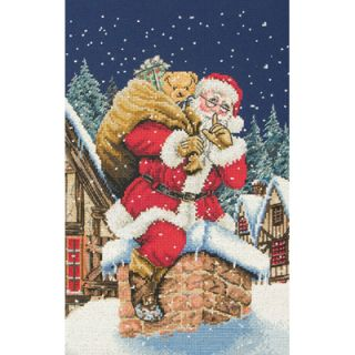 Father Christmas Shhh Counted Cross Stitch Kit