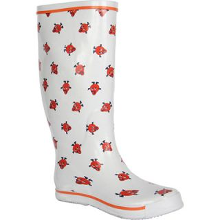 Syracuse Otto the Orange Womens Rain Boots   Logo Pattern