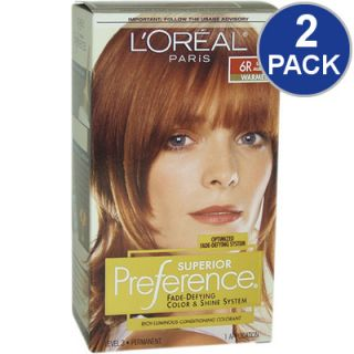 LOreal Superior Preference Fade Defying Hair Color   Light Auburn #6R