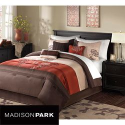 Madison Park Isabel 7 piece King/ California King size Comforter Set