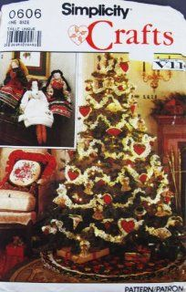 Simplicity Sewing Pattern 0606 CHRISTMAS CRAFTS
