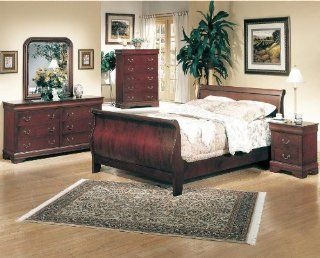 Louis Philippe Sleigh Bedroom Set   3981   Coaster Furniture