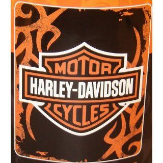 Harley Davidson Cutting Edge fleece blanket throw: Home & Kitchen