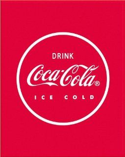 Coca Cola Coke Red Disc Fleece Blanket 48x 60 100% Polyester