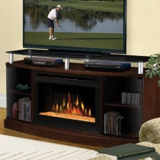 53 inch Windham Electric Fireplace Media Console With Glass Ember Bed