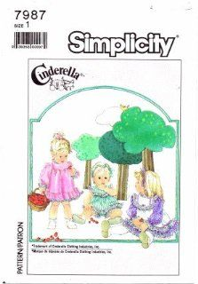 Simplicity 7987 Sewing Pattern Toddler Girls CINDERELLA