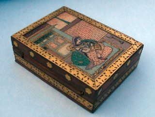 Work, Traditional Asian Accent Wooden Jewelry Box: Home & Kitchen