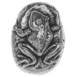 Green Girl Studios Pewter Safe Journey Frog Focal Bead