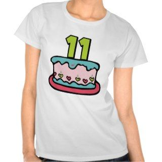 11 Year Old Birthday Cake T Shirt