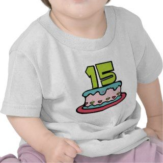 15 Year Old Birthday Cake Tshirt