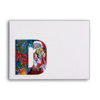 CHRISTMAS D LETTER /SANTA CLAUS WITH VIOLIN ENVELOPES