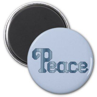 Peace Cross Stitch Pattern Fridge Magnets