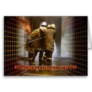 Fire Fighter Retirement Congratulations Card
