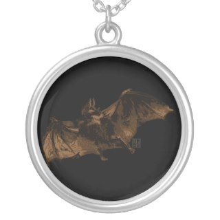 Large Vampire Bat in Flight Necklaces
