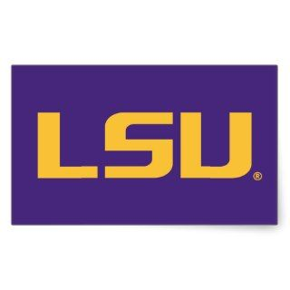 LSU Gold Logo Rectangle Sticker
